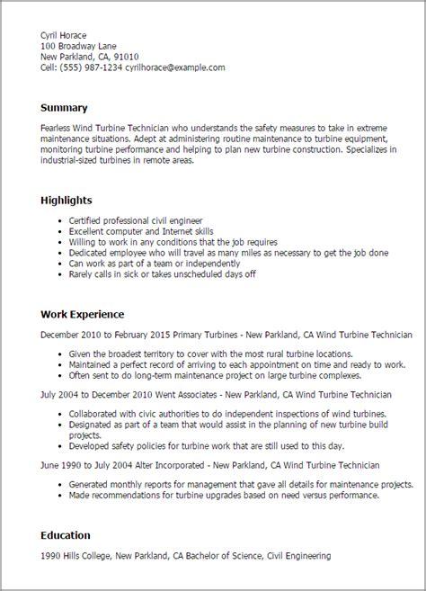 field service technician cover letter no experience wind turbine technician resume template best design