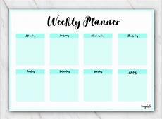 12 Free Printable Weekly Planner PDF Templates [2018]