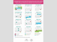 Calendarios escolares para el ciclo lectivo 20182019