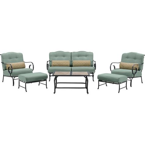 hanover oceana 6 patio seating set with a tile top