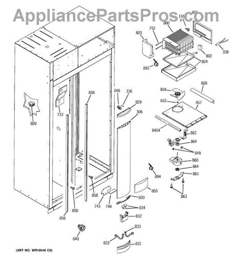 parts  ge zisbdma freezer section parts