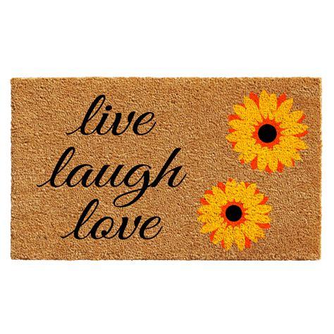 Sunflower Doormat by Sunflower Live Laugh Doormat Callowaymills