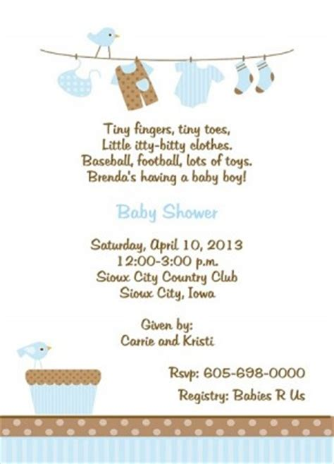 Baby Shower Wording Ideas For A Boy - boys baby shower poems and quotes quotesgram