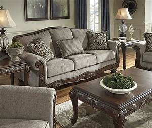 Ashley, Furniture, Signature, Design, U2013, Cecilyn, Traditional, Style, Rolled, Arm, Sofa, U2013, Cocoa, U2013, The, Best