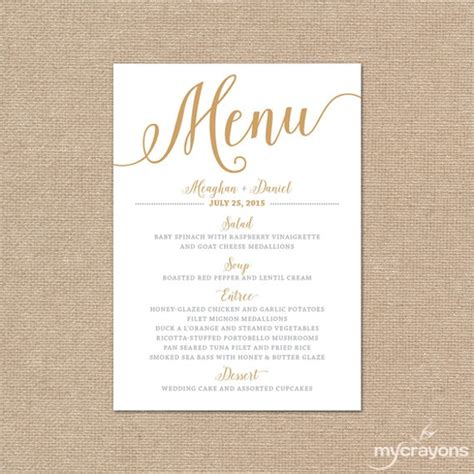 sample menu card template    psd  word