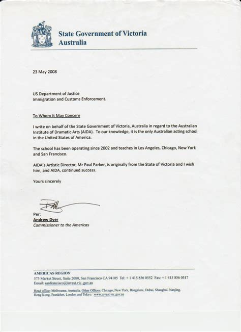 department cover letter exles letter of recommendation for immigration recommendation