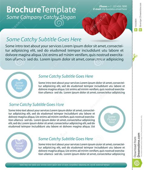 Brochure Template For Health Care Company Stock Images