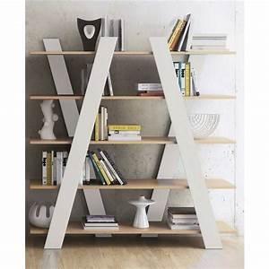 Tagre Bibliothque Design Wind Chne Achat Vente