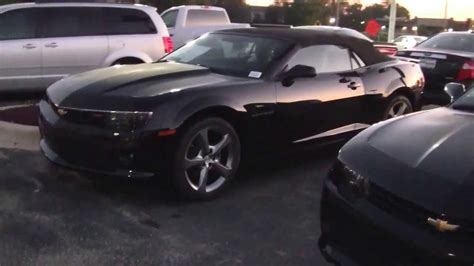 black convertible 2014 chevy camaro 2 lt convertible black youtube