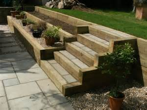 Garden Steps with Sleepers