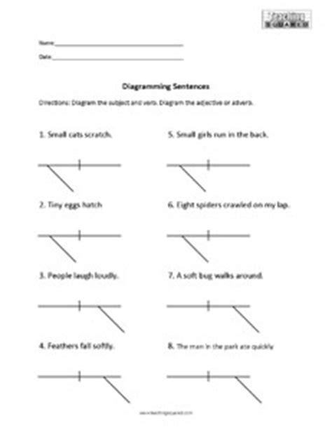 Sentence Diagramming Worksheets  Teaching Squared