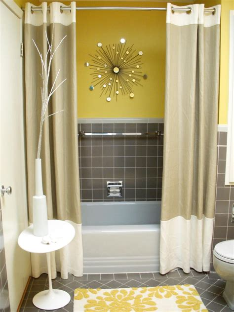 yellow and gray bathroom ideas colorful bathrooms from hgtv fans bathroom ideas