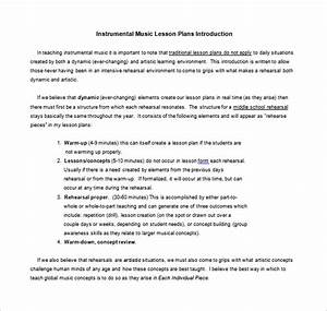 music lesson plan template 8 free sample example With music business plan template free download