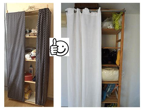 comment mettre rideau sur dressing
