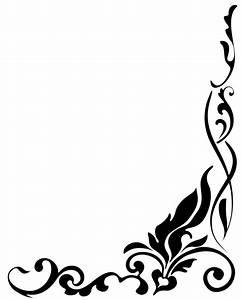 Best Black And White Flower Border #15731 - Clipartion.com
