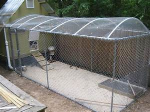 what to use for a chicken run cover backyard chickens With cheap homemade dog kennel ideas
