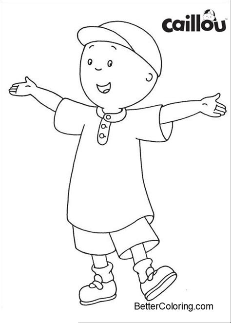Coloring Drawing by Printable Caillou Coloring Pages Drawing Picture Free