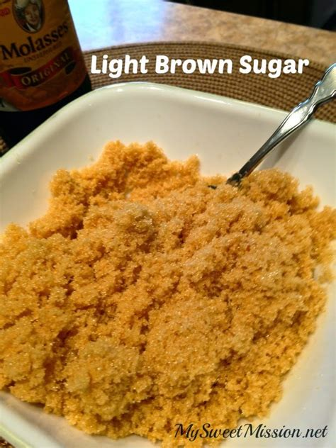 brown sugar how to make light or brown sugar my sweet mission Light