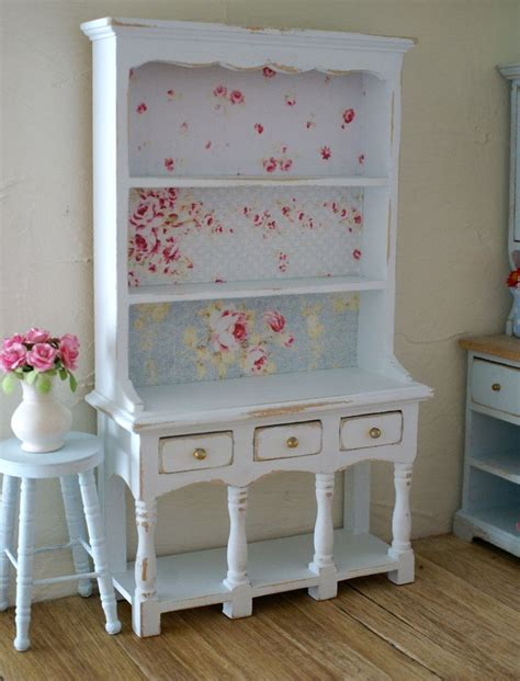 shabby chic blue beautiful pale blue shabby chic 1 12 scale rose dresser hutch for your dollhouse