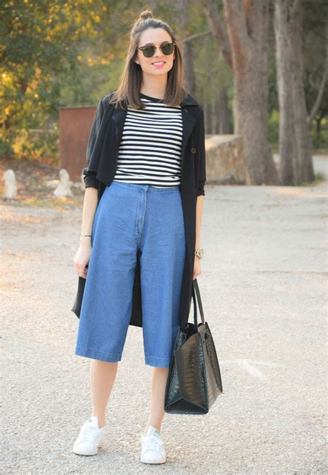25+ best ideas about Denim Culottes on Pinterest | Wide leg cropped pants Womenu0026#39;s normcore ...