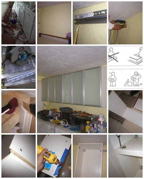 diy kitchen installation how to install ikea upper kitchen cabinets step by step diy tutorial instructions thumb how to