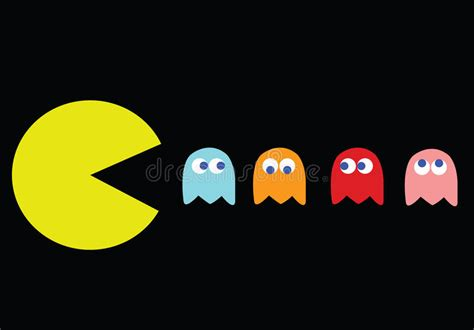Pac Man With His Enemies Editorial Image Illustration Of