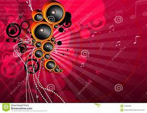 Funky musical background stock illustration. Image of ...