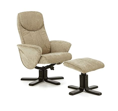 stavern polyester fabric swivel and recliner chair with