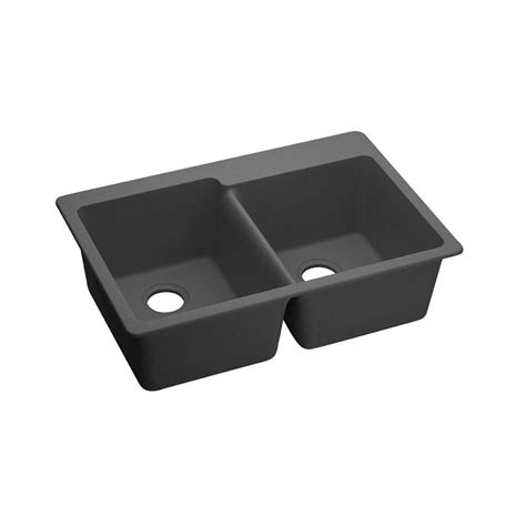 elkay composite kitchen sinks elkay elkay by schock dual mount quartz composite 33 in 7045