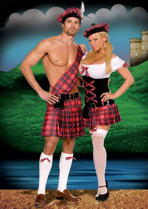 sassy lassie costume sexy scottish dancer fancy dress outfit