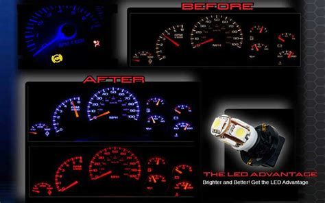 led light upgrade for factory speedometer and