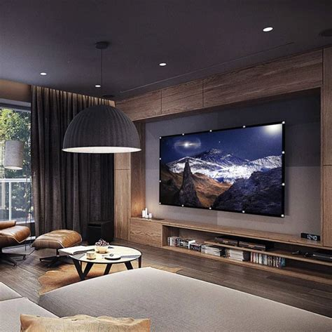 Mini Projector Screen in 2020 Living room designs Home