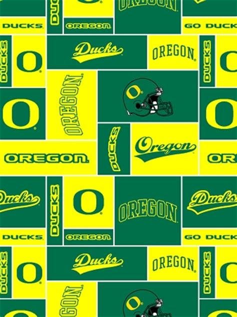 university  oregon ducks college fleece fabric print