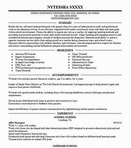 Physical Therapists Entry Level Education Aba Therapist Resume Sample Resumes Misc Livecareer