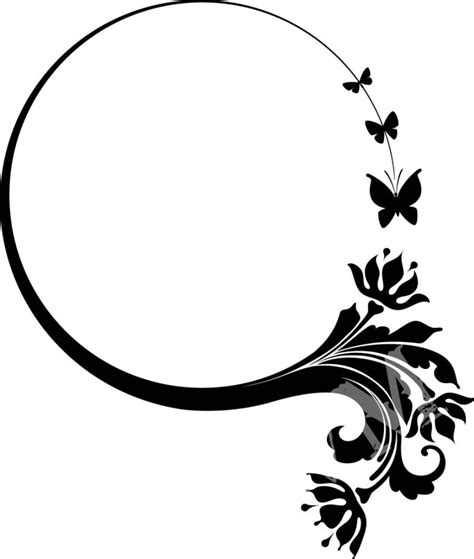 butterfly border black and white black and white butterfly design clipart best