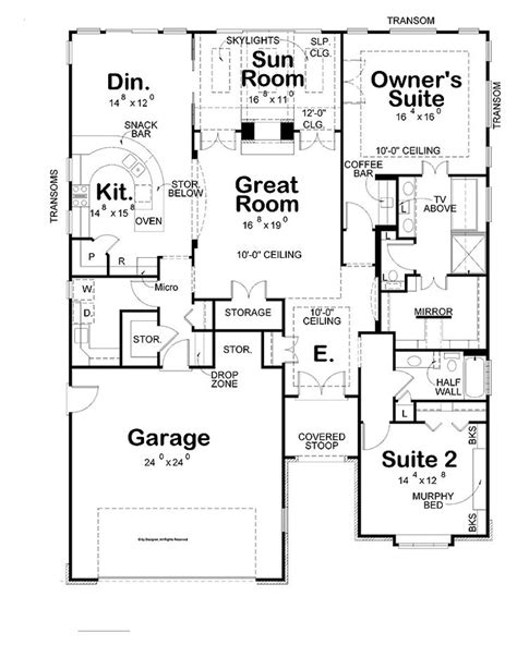 simple  bedrooms house plans  small home large