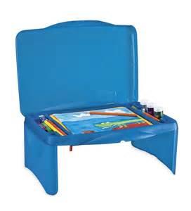 collapsible 3 compartment folding lap desk art craft