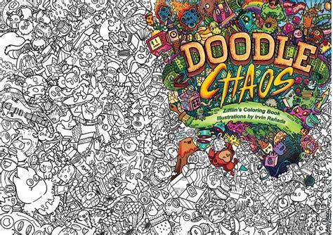 jual doodle chaos doodle coloring book  advance