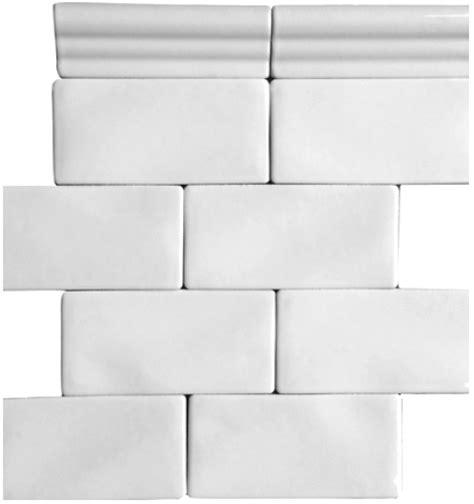 whisper white 3 x 6 quot handcrafted glazed ceramic