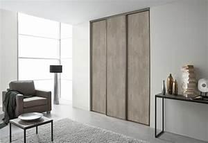 Porte De Placard Coulissante : porte placard coulissante 3 vantaux le bois chez vous ~ Edinachiropracticcenter.com Idées de Décoration