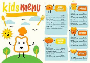 Free Template Kids Menu Vector - Download Free Vector Art ...