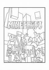 Mobs Minecraft Coloring Pages sketch template