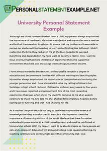 example of personal statement for cv uk essay for students