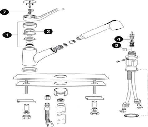 moen kitchen faucet repair diagram single handle pull out kitchen faucet moen chateau