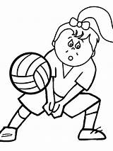Coloring Sports Pages Printable Volleyball Advertisement sketch template