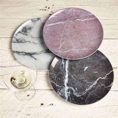 marble dinner plates set of three plastic marble plates by lime lace 4003