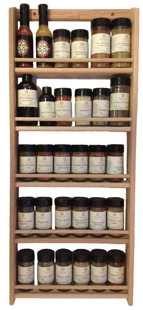 Spice Rack On Wall by Oak Wood 30 Jar Spice Rack 32 75 Quot H X 13 75 Quot W Wall