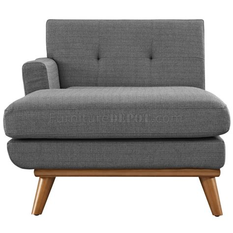 chaise dor e engage sectional sofa in gray fabric by modway w options