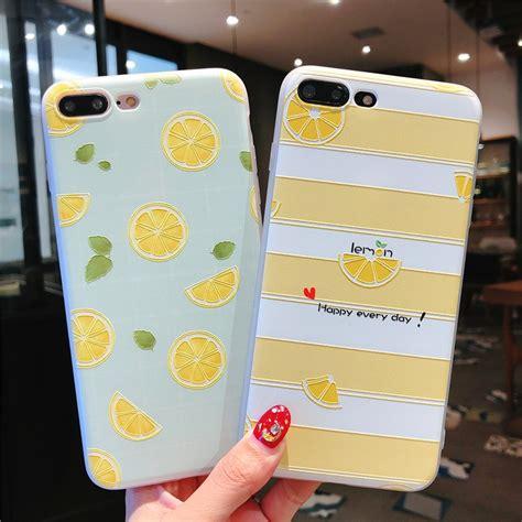 casing soft tpu slim motif orange 3d untuk iphone x 5 5s 6 6s 7 8 plus xs xr xs max 412