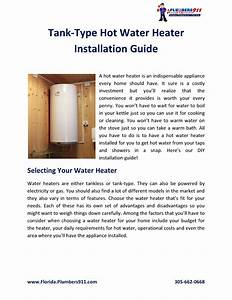 Are You Planning On Installing A New Water Heater Or